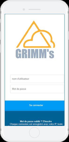 GRIMMs page de connexion