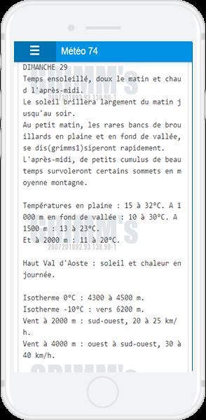 Bulletin départemental météo france