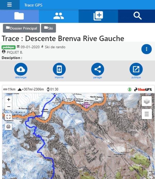 Gestion des traces GPS avec carto IGN